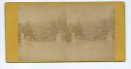 Vues Stéréoscopiques Photo Sur Carton - Paris Bois De Boulogne - Stereoscopic