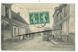 CPA - Héry - Route De Ligny Le Chatel Et Pont De Bassou - Quartier Du Pont De Verne - Hery