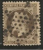 France - Napoleon III Lauré - N°30 Brun Foncé - Obl. étoile De Paris - 1863-1870 Napoléon III Lauré