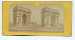 Vues Stéréoscopiques Photo Sur Carton - Paris Barrière De L´Etoile L´Arc De Triomphe - Photos Stéréoscopiques