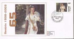FDC´s 6x 2003 Maldives = Queen Beatrix 65 Year - FDC
