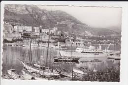CPSM MONACO PORT ET YACHTS AU FOND CASINO DE MONTE CARLO ED 7 - Harbor