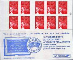VARIETE Sur Carnet Luquet YT 3419 - C7 - Sans Phosphore Avec Fils De Soie. Type II COTE 200 - Carnets