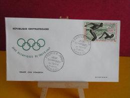 FDC- Jeux Olympiques De Tokyo - Bangui - 27.6.1964 - 1er Jour, République Centrafricaine - Central African Republic