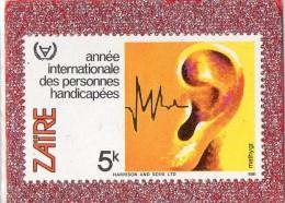 ZAIRE --ANNEE  INTERNATIONALE DES  PERSONNES  HANDICAPEES  --**  5 K  **  -- POSTE 1981  -- NEUF SANS TRACE DE CHARNIERE - 1980-89: Mint/hinged