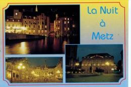 La Nuit à Metz : Multivues - Pont St Marcel Place St Jacques Hotel De Ville (ed Mage) - Metz