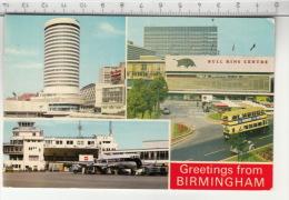 Greetings From Birmingham - The Rotunda, Bull Ring Center & The Airport (1980) - Birmingham
