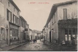 81 Alban - Avenue De Millau - Café Pasturel - Animée N° 5 - Alban