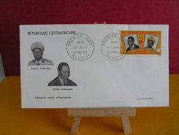 FDC- Présodent  J.B. Bokassa / B. Boganda - Bangui - 1.12.1967 - 1er Jour, République Centrafricaine - Central African Republic