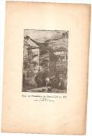 FECAMP COUR DE L'HOSTELLERIE DU GRAND CERF EN 1835 D'APRES UN DESSIN DE BELENGE - Documents Historiques