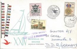 Angola 1969 Luanda World Championship Snipes Class Sailing Special Handstamp Cover - Angola