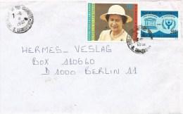 Cameroon Cameroun 1991 Douala Queen Elisabeth II 210f Alphabetism Year Cover - Kameroen (1960-...)
