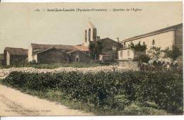(66 Cpa) Saint Jean Lasseille  (Pyrénées-Orientales)  - Quartier De L'Eglise - France