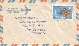 Tanzania 1987 Magu Wasp Insect 20/- Cover - Tanzania (1964-...)