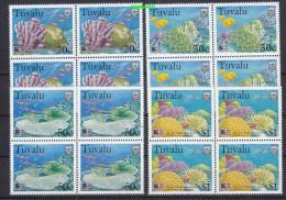 Tuvalu 1998 Greenpeace / Corals 4v Bl Of 4 ** Mnh (18457) - Tuvalu