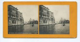 Vues Stéréoscopiques Photo Sur Carton - Venise - Palais Rezzonico Sur Le Grand Canal - Photos Stéréoscopiques