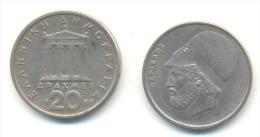 GRECIA  20 DRACHMES  ANNO 1988 - Grèce