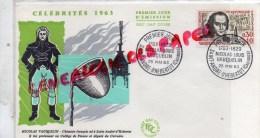 14 - SAINT ANDRE D' HEBERTOT - ENVELOPPE 1ER JOUR- NICOLAS VAUQUELIN CHIMISTE FRANCAIS -1963 - FDC