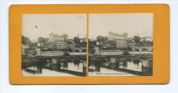 Vues Stéréoscopiques Photo Sur Carton - Le Gave . Le Pont Et Le Chateau - Pau - Photos Stéréoscopiques