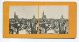 Vues Stéréoscopiques Photo Sur Carton - Panorama De Strasbourg - Photos Stéréoscopiques