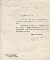 Lettre Du Préfet Des Landes, 9/9/1940 - Documents Historiques
