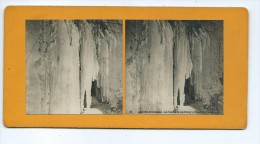 Vues Stéréoscopiques Photo Sur Carton - Chutes Du Niagara - La Chambre Nuptiale Stalactites Amérique - Photos Stéréoscopiques