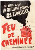 Dépliant 2 Volets  -  FEU De CHEMINEE?  QU4ALLEZ VOUS FAIRE ?   -  LA  MUTUELLE Du MANS  INCENDIE - Publicités