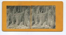 Vues Stéréoscopiques Photo Sur Carton - Chutes Du Niagara - Détails De Glace (Amérique) - Photos Stéréoscopiques