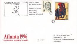 OLYMPISCHE SPIELE-OLYMPIC GAMES, USA/ATLANTA 1996, Special Cancellation !! - Summer 1996: Atlanta