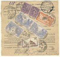 Frankreich Michel No. 139 , 159 , 240 , 241 auf Paketkarte