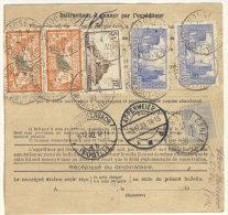 Frankreich Michel No. 139 , 235 , 240 , 241 auf Paketkarte
