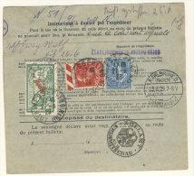 Frankreich Michel No. 168 , 182 , 194 auf Paketkarte