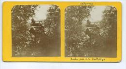 Vues Stéréoscopiques Photo Sur Carton - Rocher Près De La Vieille Forge - Photos Stéréoscopiques