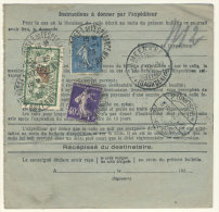 Frankreich Michel No. 168 , 182 , 216 auf Paketkarte