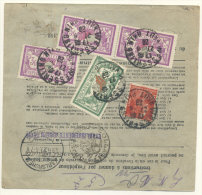 Frankreich Michel No. 181 , 182 ,  194 auf Paketkarte