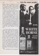 1967 -  WHITE HORSE Scotch Whisky - 1 Pagina Pubblicità Cm. 13 X 18 - Whisky