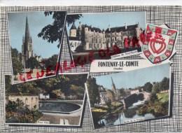 85 - FONTENAY LE COMTE - CHATEAU DE TERRE NEUVE- EGLISE NOTRE DAME-PLACE VIETE-BORDS VENDEE - Fontenay Le Comte