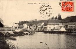 MONTBELIARD LE PORT DU CANAL 1912 - Montbéliard