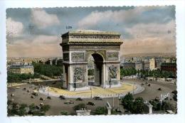 Paris En Flanant - L´Arc De Triomphe De L´Etoile - N°6 éd Yvon Dentelée Colorisée Animée - Arc De Triomphe