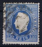 Portugal:  1870 YV Nr 45   Perfo 12.50 Mi Nr 42 Used