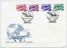 MOLDOVA 1992 Airmail Issue FDC.  Michel 10-13 - Moldova