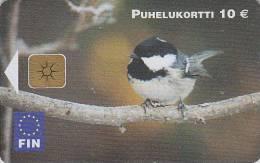 T�l�carte puce Finlande - Oiseau MESANGE - TIT bird Finland chip phonecard - Meise Vogel Telefonkarte - 3617