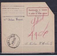 Geluwe   Kaart 164 - Documents Of Postal Services