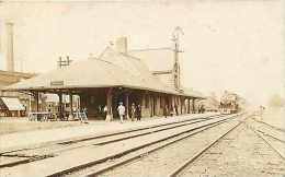 230911-Depot, Illinois, Dwight, RPPC, Chicago & Alton Railroad Station, 1923 PM, CR Childs Photo No 12320 - Gares - Sans Trains