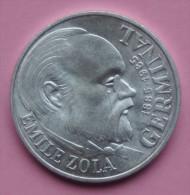 """Pièce De 100 Francs 1985 """"Emile Zola"""" - Argent - N. 100 Francos"""