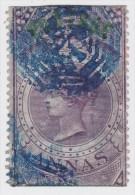India; SG. 66 - 6 As. Purple 1866 - 1858-79 Kronenkolonie