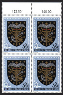 ÖSTERREICH 1971 ** Wappen Der Großhändler Um 1900 - 4er Block MNH - Briefmarken