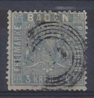 Germany (Baden) 1860-1861  (o)  Mi.10b  (gepruft-Flemming BPP) See Scan - Bade