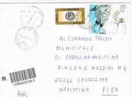 ITALIA (ITALY) - STORIA POSTALE - 2006 RACCOMANDATA AR CASTELNOVO SOTTO (RE)  X INTERNO (MARMO CARRARA + ALTRO)-RIF.1593 - 1946-.. République