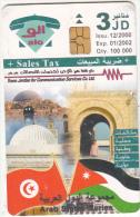 JORDAN - Arab States/Tunisia, 12/00, used